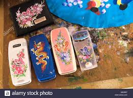 Asian Designs by Phones With Asian Designs Stock Photo Royalty Free Image
