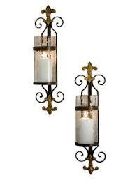 Fleur De Lis Wall Sconce Fontainebleu Fleur De Lis Wall Sconce Pair Pillar Candle