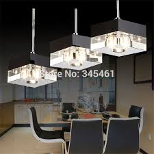Chandelier Led Lights Aliexpress Buy Lampada De Led Crystal Pendant Lights Kitchen