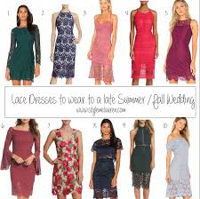 lace dresses to wear to a late summer early fall wedding u2022 style