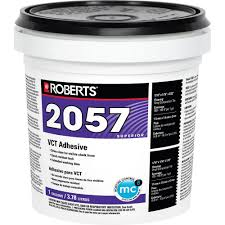 Sticky Back Laminate Flooring Roberts 1 Gal Premium Vinyl Tile Adhesive 2057 1 The Home Depot