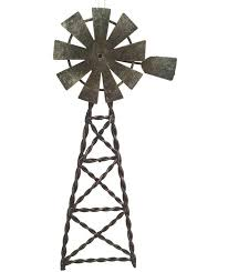 western ornament tin windmill pole west cowboy