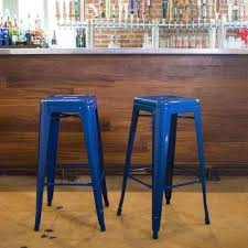 blue bar stools kitchen furniture dining room 30 backless blue metal bar stool stools flash