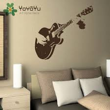 home decor wall art stickers large guitar wall art decal mural sticker stencil vinyl cut