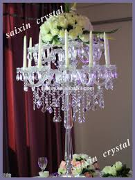 gorgeous crystal candle stand and flower stand for wedding