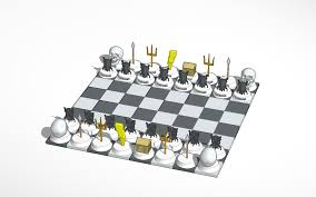 Chess Board Design 3d Design Greek Vs Roman Gods Chess Set Chess Gods Mythology