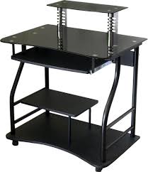 glass top computer desk black glass top computer desk workstation w 2 drawers inside