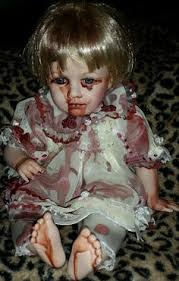 Scary Baby Doll Halloween Costume Reborn Creepy Evil Scary Zombie Baby Doll Odd Steam Punk Ooak