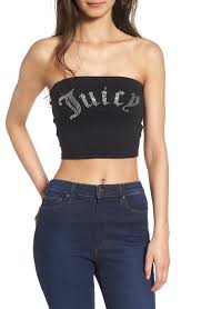 juicy couture gothic crystals jersey tube top nordstrom
