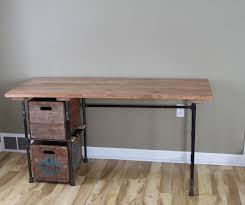 Diy Reclaimed Wood Desk Sturdy Statements Customizable Reclaimed Wood Desk With Optional