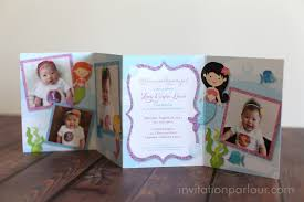 invitation parlour mermaid under the sea birthday party at the