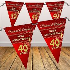40th anniversary color wedding colors 40 year wedding anniversary color awesome 40th