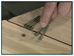 screws for cedar decking