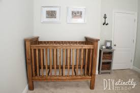 Free Woodworking Plans For Baby Cradle by Ana White Diy Farmhouse Crib Featuring Diystinctly Made Diy