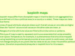 isoline map definition introduction to human geography chapter 1 map forms choropleth