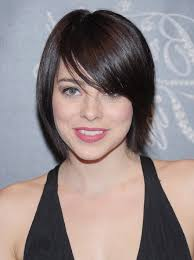 short hairstyles with side swept bangs for women over 50 krysta rodriguez short straight haircut with side swept bangs