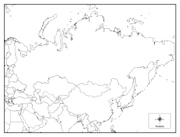 Blank Outline Map Of Asia Printable by Printable Map Of Russia Coloring Home