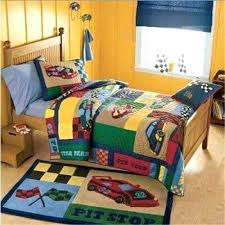 Childrens Twin Comforters Pit Stop Race Car Quilt Bedding Set Twin Xl Bedding Quilts Twin