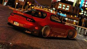 mazda rx 7 mazda rx7 rocket bunny add on replace gta5 mods com