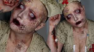 trypophobia zombie nurse halloween costume makeup tutorial youtube