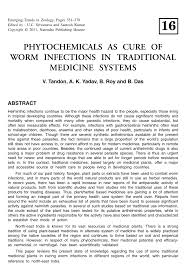 native plants in india phytochemicals as cure of worm infections in traditional medicine