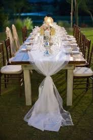 tulle table runner palm springs wedding from dandelion and grey tulle table runner