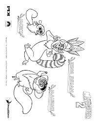 madagascar 2 mort and maurice the lemur coloring page