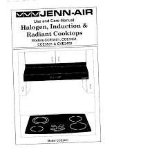 Jennaire Cooktop Jenn Air Cooktop Cce3401 User Guide Manualsonline Com