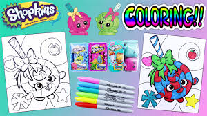 shopkins crayola coloring pages lolli poppins with surprises