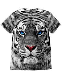 white tiger s all print tiger t shirt emazinglights