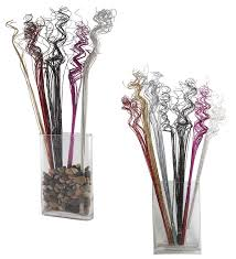 amazon com gold sparkle glitter curly ting ting branches vase