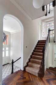 Entry Stairs Design Industrial Carpet Tiles Staircase Victorian With White Balusterade