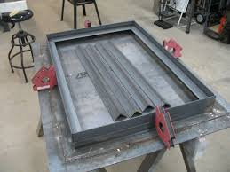 diy welding table plans diy backyard workshopwelding table base lined up welding bench