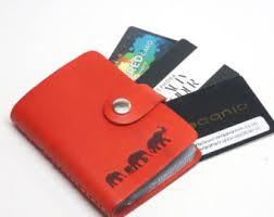 Pocket Business Card Holder Metal Credit Card Holder Etsy