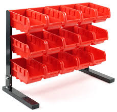 Garage Tool Organizer Rack - bench top parts racks set of 15 traditional garage and tool