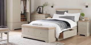 Hampton Bed Buy Hampton King Bed With 2 Storage Drawers Painted Light Stone