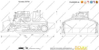 tn blueprints the blueprints com vector drawing komatsu d575a