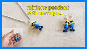 minion earrings quilling mini minions pendant with earrings minions earrings