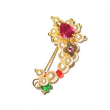 Buy Maharashtrian Traditional Nath Clip Gold Nath Traditional Maharashtrian Marathi Nose Ring
