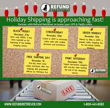 Ups Shipping Zones Map Ups U0026 Fedex 2015 Year End Holiday Schedules Refund Retriever