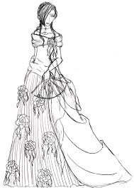 the black dress sketch by pretty lotus on deviantart