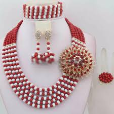 african wedding bead necklace images African traditional wedding beads nigeria wedding jewelry set owame jpg