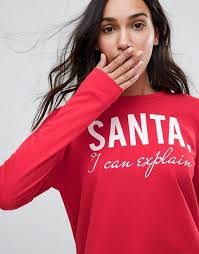 only only santa i can explain holidays sweatshirt