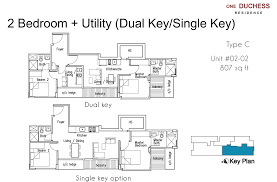 floor plan key one duchess floorplan