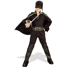 deluxe halloween masks kids zorro boys deluxe costume 28 99 the costume land