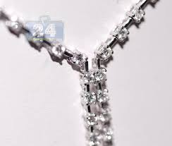 dimond drop womens diamond drop tennis necklace 18k white gold 2 60 ct