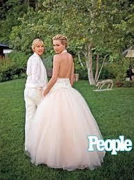 portia s first look ellen portia s wedding album people com