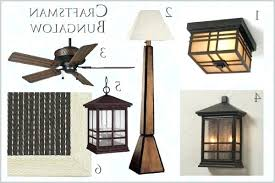 Light Fixtures With Fans Light Craftsman Style Ceiling Light