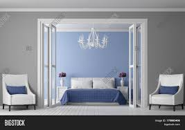 White Furniture Paint Modern Vintage Bedroom Interior 3d Rendering Image View From