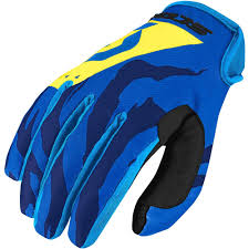 vintage motocross gloves scott 2017 mx gear new 350 race blue yellow tiger dirt bike
